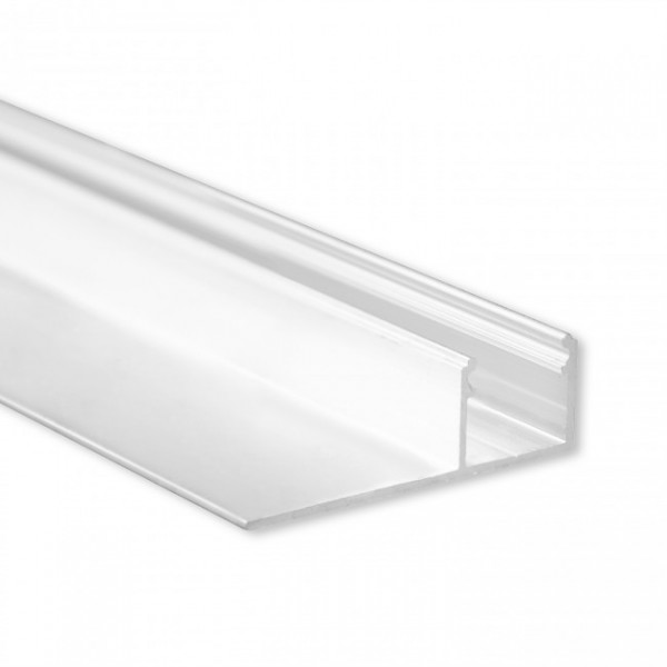 LED Gipsplatten-Profil TBP4 (satiniert) ohne Blende 2m