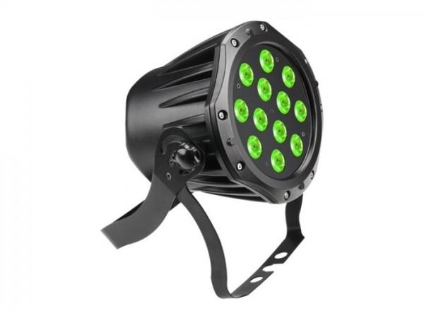 LED TriPAR IP65 RGB 12x3W, 6 DMX Kanäle, schwarz