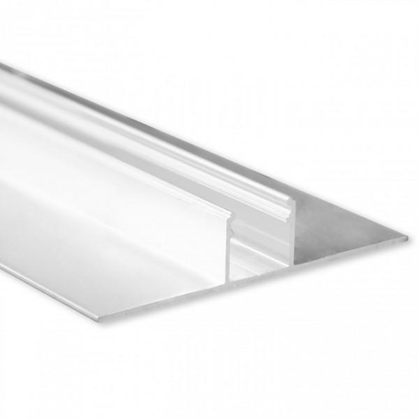 LED Gipsplatten-Profil TBP3 (satiniert) ohne Blende 2m