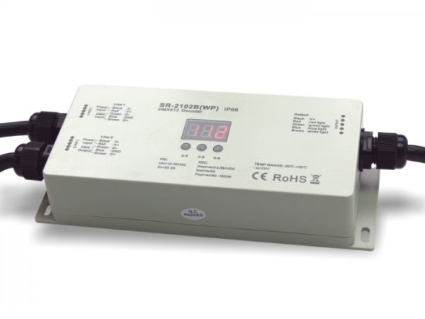 SR-2102WP LED Outdoor Controller DMX 4x5A IP66