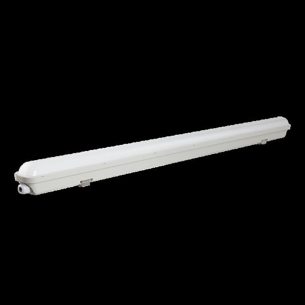 Feuchtraumwannenleuchte mit integrierten LED Streifen 3600lm 30W 148cm
