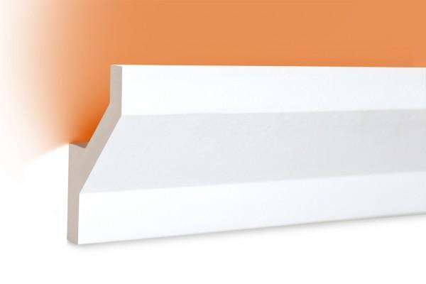 LED Stuckprofil Typ: 10 - 75x45mm PU 2m Länge lichtundurchlässig überstreichbar
