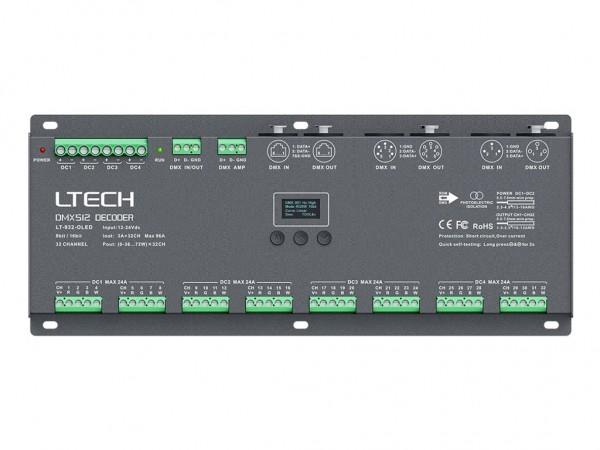 LT-932-OLED 32-Kanal DMX/PWM 32x3A LED Controller
