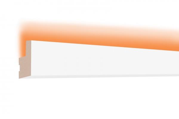 LED Stuckprofil Typ: 19 - 35x22mm PU 2m Länge lichtundurchlässig überstreichbar