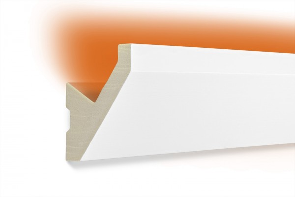 LED Stuckprofil Typ: 14 - 65x65mm PU 2m Länge lichtundurchlässig überstreichbar