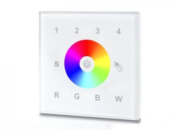 SR-2812W RF LED Touchcontroller (RGBW) 4-Zonen Funk+DMX 868MHz 10 Programme 16 Speicherplätze