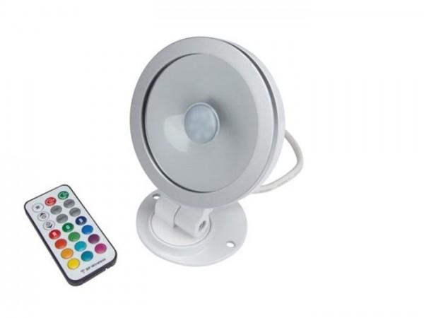 A4011-RGB 10W LED Aussenscheinwerfer inkl. RF Fernbedienung weiss