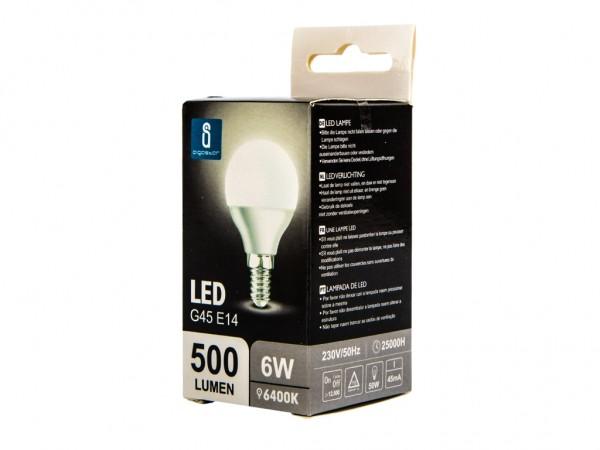 LED Leuchtmittel A5 G45 6W E14 6400K kaltweiss