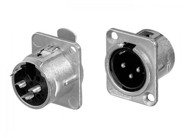 NC 3 MDL1 XLR Einbaustecker, silber 3-Pol