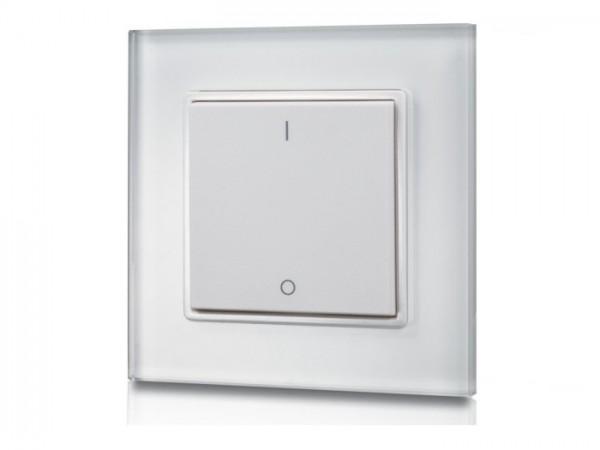 SR-2833K1 RF LED Wandschalter/-dimmer 1-Kanal Funk Batteriebetrieb 868MHz - GIRA, Merten, Jung, etc.