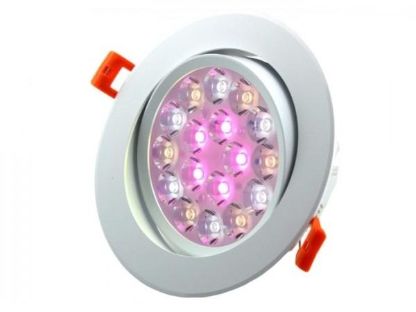 MI-062 LED Downlight inkl. Netzteil 230VAC RGBCCT 9W 2,4GHz