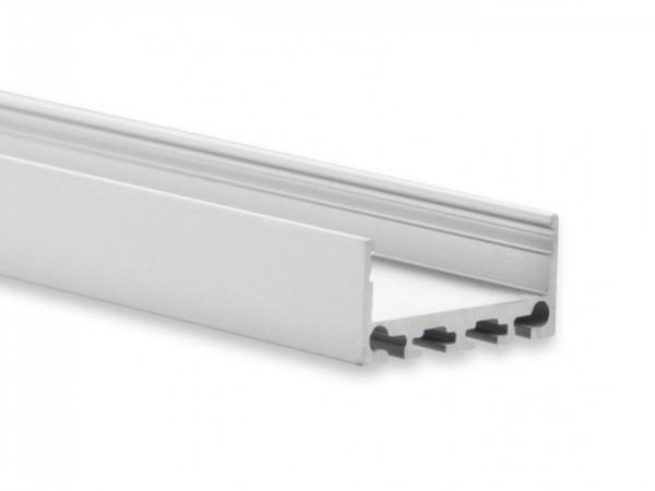 LED Alu-Profil YN4 (satiniert) ohne Blende 2m 24mm Innenbreite