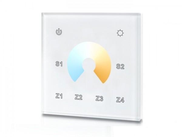 SR-2822B-Z4 RF LED Touchcontroller (CCT) Funk+DMX 868MHz 4 Zonen