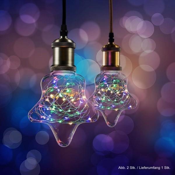 LED Effekt Leuchtmittel Lichterkette Stern E27 1,5W multicolor