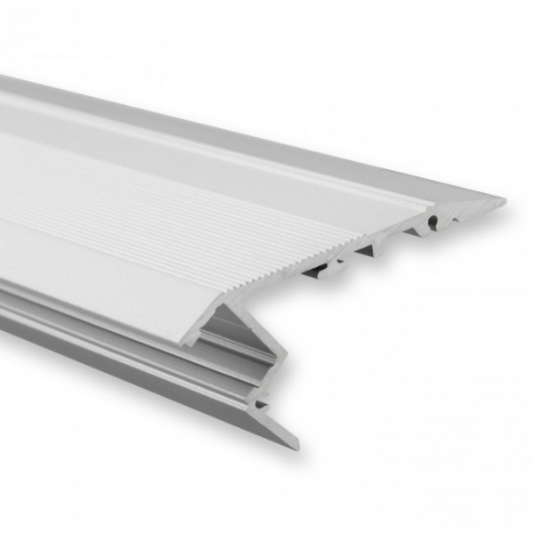 LED Alu-Treppenprofil YO2 (satiniert) ohne Blende 2m