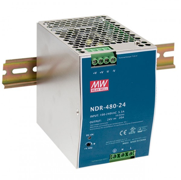 NDR-480-24 Hutschienen Netzteil / 480W / 24V / TÜV
