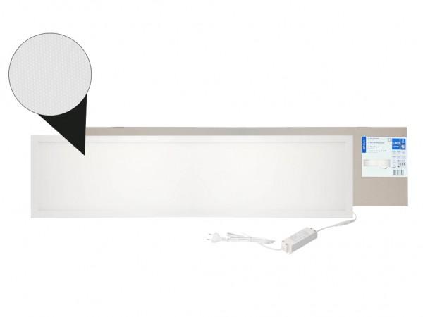 LED Panel 1200x300mm UGR19 4000K 30W 3600lm weißer Rahmen inkl. Netzteil