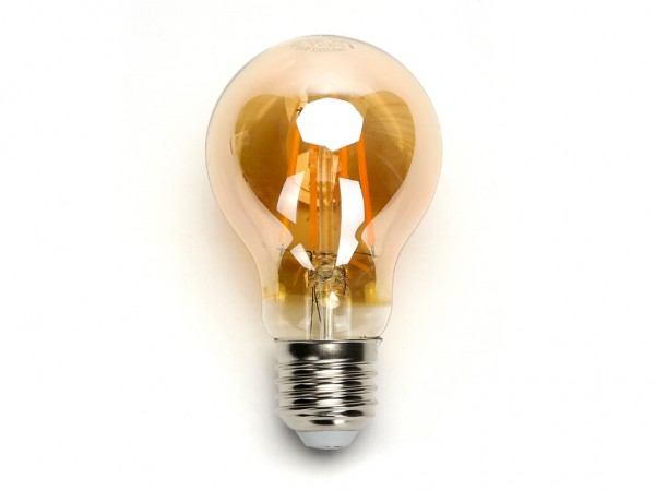 LED Filament Leuchtmittel E27 A60 8W 2200K Gold