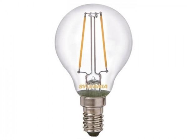 LED Tropfenlampe 2W 2700K 250lm 230V, Glas klar