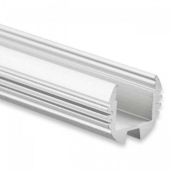 LED Alu-Profil YL7 (satiniert) ohne Blende 2m
