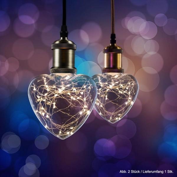 LED Effekt Leuchtmittel Lichterkette Herz E27 1,5W 2700K