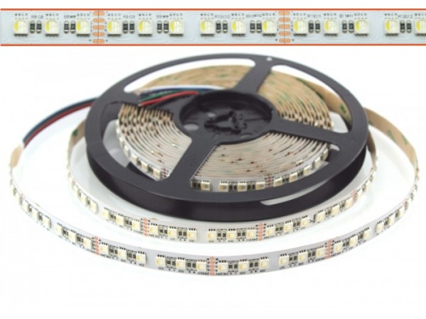 LED Flex Stripe UHP 6m RGBW-XC 96x 4-in1 LEDs/m RGB+kaltweiss 24V White-PCB