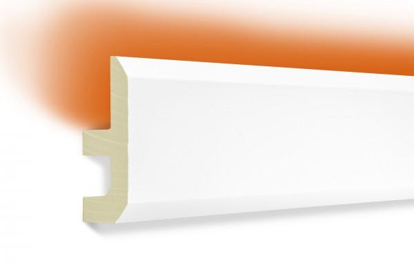 LED Stuckprofil Typ: 13 - 80x40mm PU 2m Länge lichtundurchlässig überstreichbar