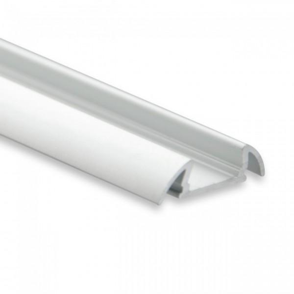 LED Alu-Profil YO17 (satiniert) ohne Blende 2m