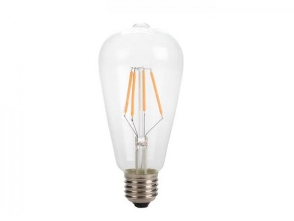LED Retro-Lampe T64 4W 2200K 230V E27 Kristalglas klar