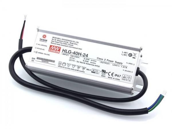 HLG-40H-24 In- und Outdoor Netzteil IP65 24V / 40W / TÜV
