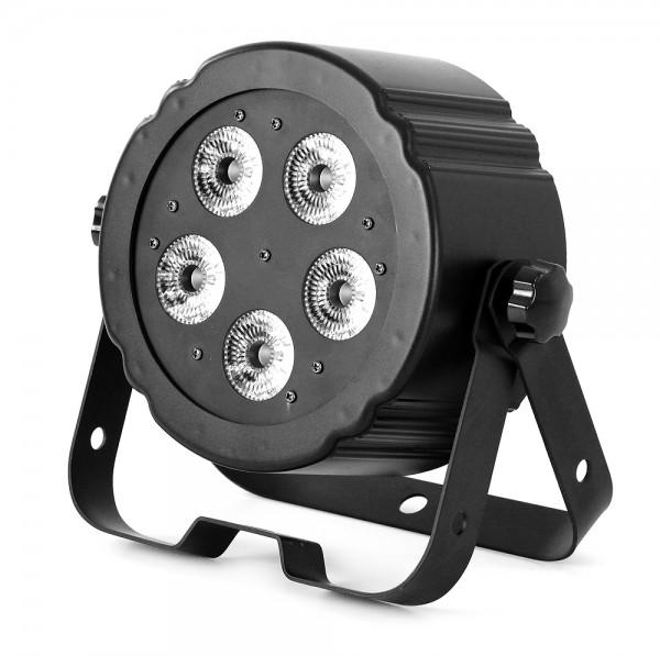 LED SPOT054 flacher LED Spot 5x 5W MultiChip RGBW LEDs 6 DMX Kanäle