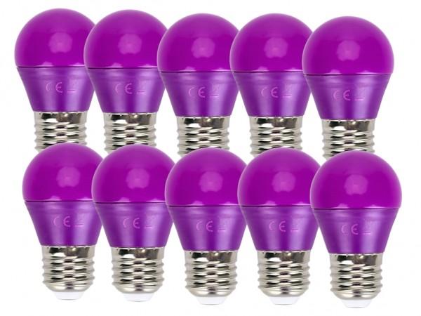 LED Leuchtmittel A5 G45 4W E27 Violett 10er Pack