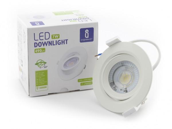 LED Downlight 7W schwenkbar 3000K 490lm 230V 60° Abstrahlwinkel