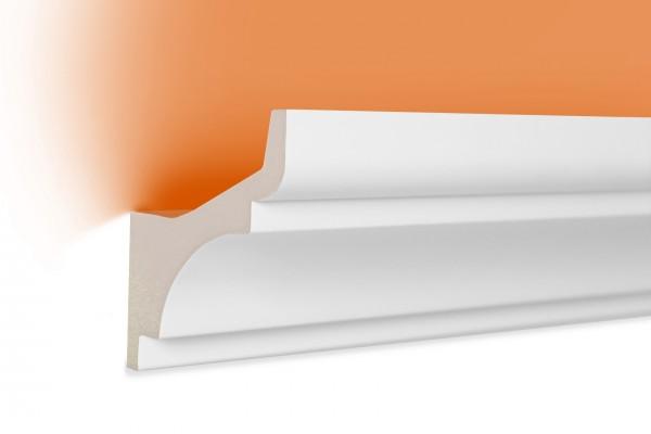 LED Stuckprofil Typ: 2 - 80x80mm PU 2m Länge lichtundurchlässig überstreichbar