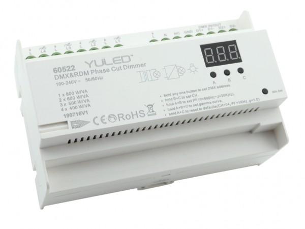 YL-2108AC-DIN DMX/RDM 4-Kanal Dimmer 230V Hutschiene