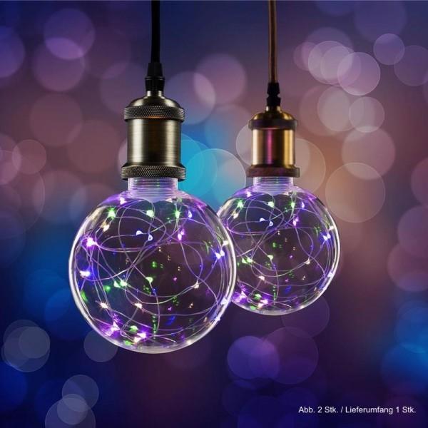 LED Effekt Leuchtmittel Lichterkette Globe G125 E27 1,5W multicolor