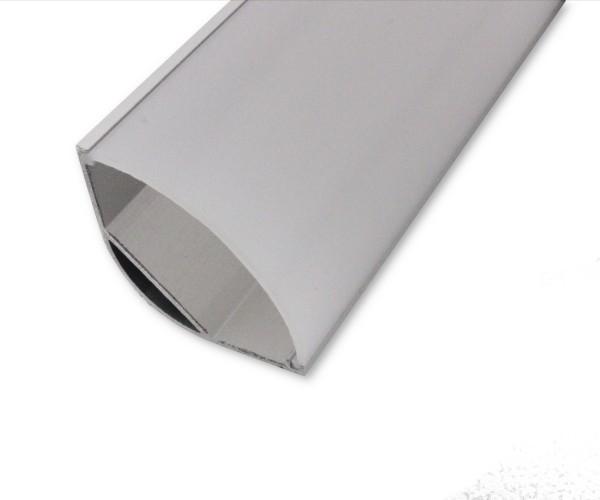 LED Alu-Profil AL-205EC 2m inkl. Blende Eckprofil