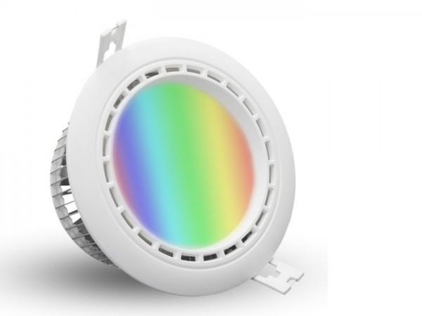 MI-067 LED Downlight inkl. Netzteil 230VAC RGBW 12W 2,4GHz