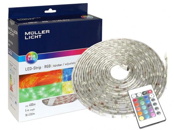 LED Stripe Komplett-Set 5m RGB inkl. Controller 30LED/m
