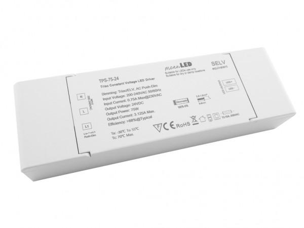 TPS-75-24 dimmbares LED Netzteil 75W 24VDC Triac Push-Dim