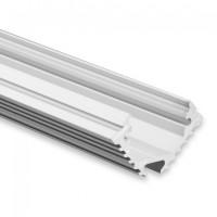LED Alu-Profil YL11 (satiniert) ohne Blende 2m