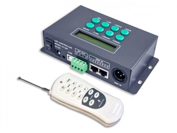 LT-200 SPI(TTL) Controller 1024px für LED SPI Stripes + Module 540 Programme Timer-Funktion inkl. Fe