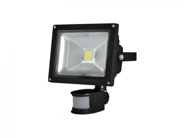 FL20W-PIR LED Flutstrahler inkl. Bewegungsmelder 20W 3000K schwarz