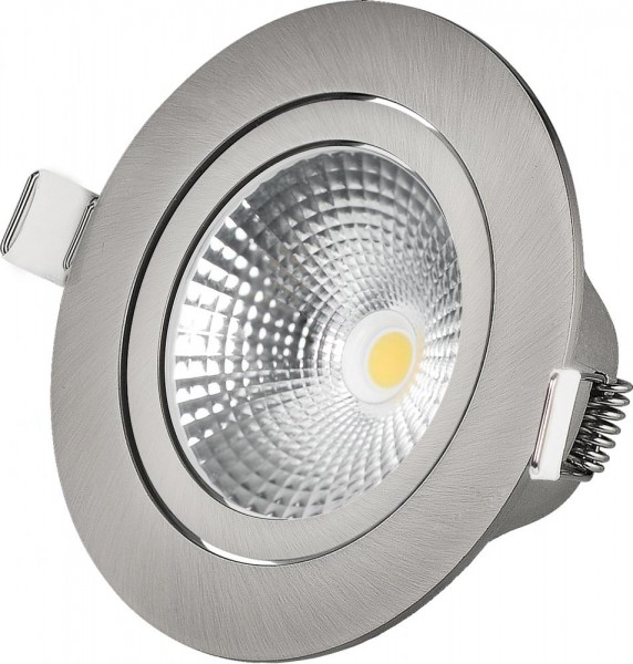 LED Downlight 7W Nickel 350lm 2000-2700K Triac Dimmer CRI >95 dim-to-warm