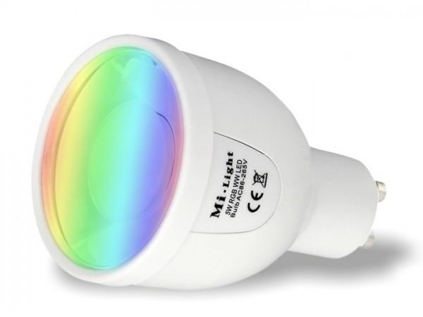 MI-018 LED Leuchtmittel GU10 230V RGBW 5W 2,4GHz