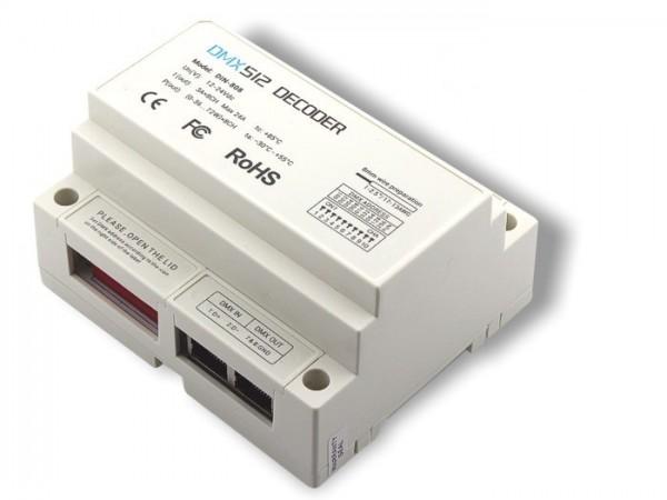 LED Controller DIN-808 8-Kanal DMX / PWM 8x3A Hutschiene
