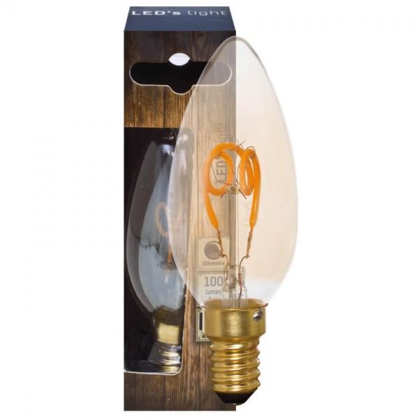 Dekoratives Spiral LED-Leuchtmittel C35 E14 3W 100LM Gold