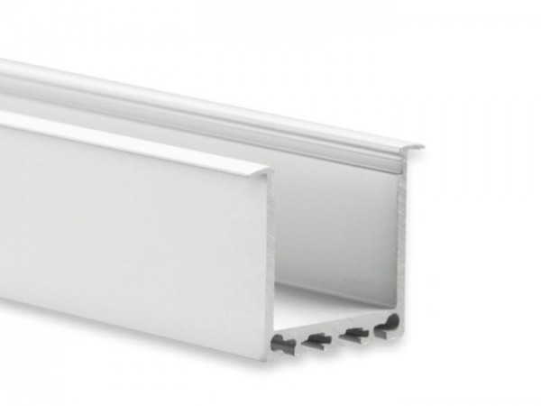 LED Alu-Profil YN7 (satiniert) ohne Blende 2m 24mm Innenbreite