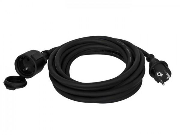 Schutzkontakt-Gummi-Verlängerung, H07 RN-F 3G x 1,5², schwarz