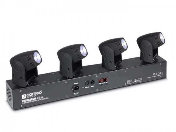 HYDRABEAM 400 W LED Moving Head Bar 4x10W WEISS 6-28 DMX-Kanäle